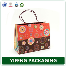 promotional paper packaging carry bag, custom paper carry bag wholesale