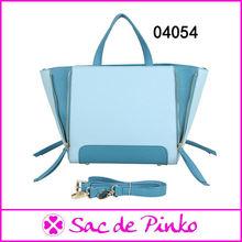 Custom-made pu leather celebrity leather fashion college tote bag handbags