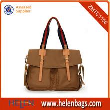 New style khaki long strap shoulder tote bags