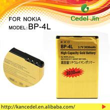 all model battery for mobile phone For nokia BP-4L 6650/6760S/6790/E52/E55/E61i 3030mAh gold battery