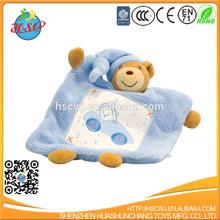 bear shaped soft baby blanket