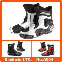Men Racing Moto Bike Boots Mid-Calf Shoes Motocross Speed Boots Waterproof Botas Motorcycle