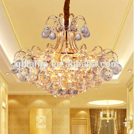Modern k9 kristal aydınlatma kristal otel avizeler, dekoratif ışık