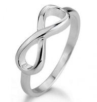 Wholesale 925 Sterlig Silver Infinity Ring Silver Infinity Symbol 8 Ring High Polished