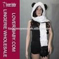 caber a maioria dos adultos e adolescentes panda de pelúcia pata impressão bolso luvas luva longa orelha fur chapéus animal