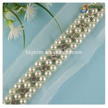 bailange personalizado bordado de perlas de cuentas trim para vestido de novia