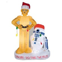 wholesale Star Wars R2D2 And C3PO Christmas Inflatable