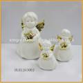hecho a mano de cerámica poco figuras de ángel de navidad ornamento s