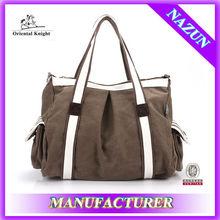 fashion color unisex customers tote bag hobo hand bag