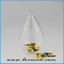 European unique shape hanging clear glass ball vases blank christmas ornament