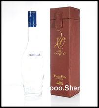 Emboss your LOGO leather wine box/wine gift case/wine bottle tube