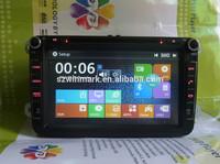 8inch 2 DIN Car DVD radio player for Volkswagen Polo Golf Passat Touran Tiguan GPS navigation DJ8015 with Windows 8 UI