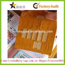 2014 high-grade Leather sticker,index sticker, Leather sticker producer