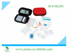 small MOQ red case EVA first aid kit with cheap price