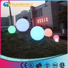 led PE plastic garden ball swimming pool ball waterproof