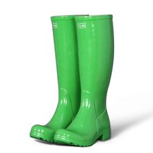 Green color wellingtons