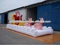 Joyeux noël! Décorations de noël santa avec sac fabriqué en chine pour la vente
