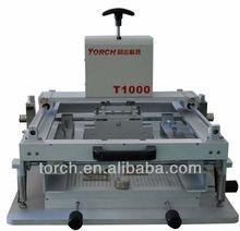 Manual screen printing machine& SMT Screen printer /LED Lighting & Trading Stencil PrinteT1000 (TORCH)