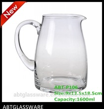 2014 Hot sale glass pitcher and drinking glass with bubbles and color circle