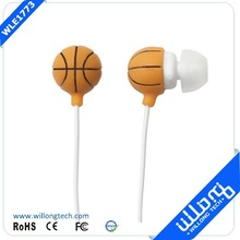 Hot Sale OEM Factory Price high quality basketball cartoon earbuds