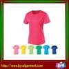 fashion women sport polyester jersey t shirts