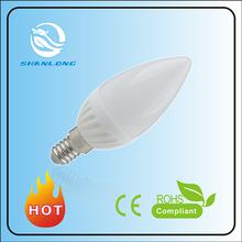 BEST PRICE!!! NEW AC COB Ceramic/aluminum/ABS led e14 4w candle ceramic e14
