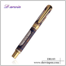 Beautiful blue and white porcelain pen for trading company gift