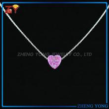 Hot Sale Opal Jewellery/Synthetic Gems/Heart Opal Chain