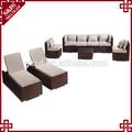 S&d alta qualidade sofá de luxo luxo ao ar livre do rattan sofá de vime pátio sofá de luxo