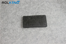 industial dark grey felt fabric