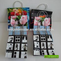 China qingdao plastic handle bag with customized printing