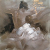 Arts and Craft Beautiful Nude Girls Oil Painting for Decor