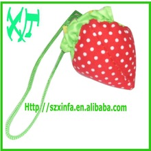 Popular foldable reusable strawberry shopping bags with handle,easy carry and use, OEM orders are welcome