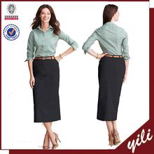 readymade garments wholesale market Women's Long Chino straight Skirt