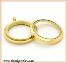 Alibaba website China supplier wholesale stainless steel floating locket,gold plated screw floating locket