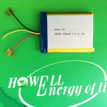 825064 3000mah polymer battery /rechargeable 3.7v lithium polymer battery /gps navigation battery
