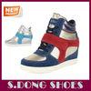 .Latest wholesale women shoe hidden wedge sneaker