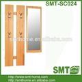 Barato KD bloco liso melamina corredor móveis com espelho para cabide