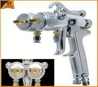 93 SHUNHE HVLP gravity type paint chrome double nozzle spray gun Mirror finish spray chrome machine for motorcycle