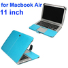 Hot Sale Crazy Horse Texture Flip PU Leather Case for Macbook Air 11 inch