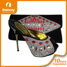 High heel shoe and matching bag for lady party in Christmas 2014