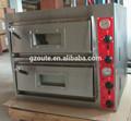 alta qualidade pizza hut transportador elétrico forno para pizza com dois pedaços de pizza de pedra