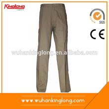Khaki Uniform Hot Sale Mens Cargo Pants With Side Pockets
