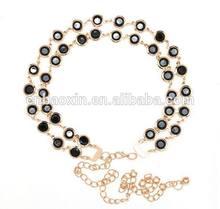 Fashion Chunky Gold Ladies Waist Chain Beaded Waist Chain Belt
