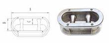 Stainless steel 316 boat and yatch oval Hawse pipe with cleats