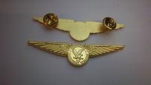 Custom pilot uniform wings arm badge/lapel pin