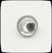 crystal bead nickel bottom with resin top loop button, brass sewing button for clothing