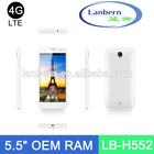 OEM ODM 4g lte fdd 3G WCDMA MT6582 Quad core 1.3GHz Dual Camera Single Sim custom best android phone 5.5 inch screen LB-H552