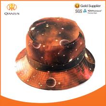 Men Women Unisex Cap Printed Wholesale Blank Cotton Floral Printing Cheap Custom Galaxy Bucket Hat
