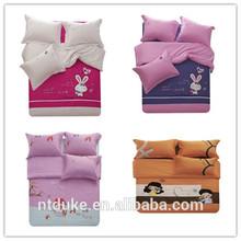 Single/Double/Queen/Cartoon Bedding Set/Embroidery Applique/Cotton